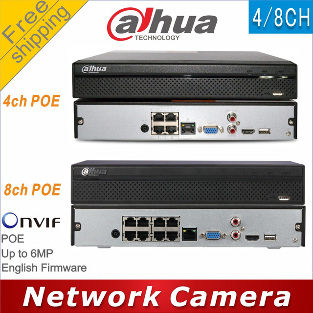 Free shipping Dahua NVR2104HS P replace NVR2104HS P S2 NVR2108HS 8P replace NVR2108HS 8P S2 4/8CH POE NVR Network Video Recorder
