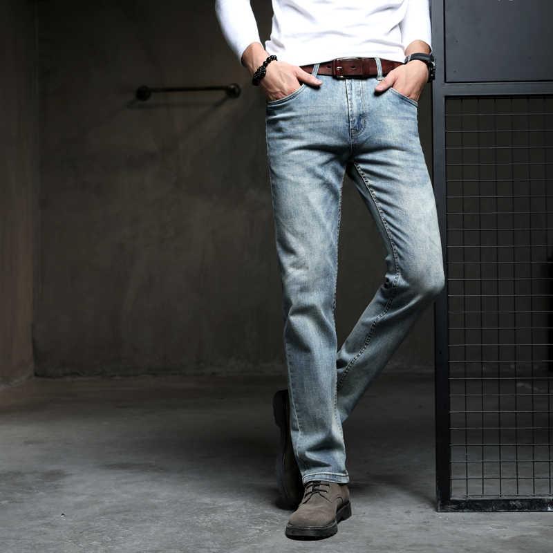 カウボーイヴィンテージ勒男性ジーンズ新着 2019 ファッションストレッチデニムパンツ男性デザイナーストレートフィットズボンサイズ 38 40