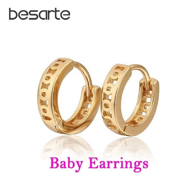 8c00a5a83336 Pendientes de aro de oro para niños bebé Oorbellen Aretes Ninas Brincos  Ouro Boucles Bijoux Bebe