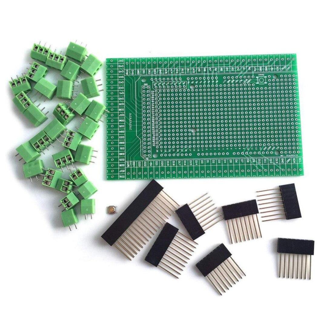 MEGA-2560 pcb protótipo parafuso terminal block shield placa fêmea encabeçamento soquetes para arduino blocos eletrônicos acessórios do robô