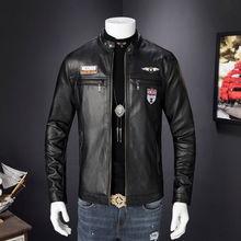 Мужские кожаные куртки, осенне-зимнее пальто, мужские пальто из искусственной кожи, байкерские мотоциклетные мужские классические куртки высшего качества размера плюс 3XL
