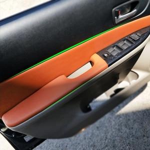 Image 1 - 4 pçs estilo do carro interior microfibra couro porta painel capa adesivo guarnição para mazda 6 2006 2007 2008