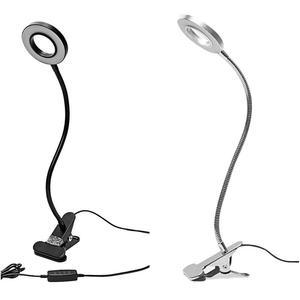 Image 2 - Lampe de bureau Portable pour Clip, Rechargeable par USB, lumière à intensité réglable, idéale pour la lecture la nuit, tatouage de sourcils, Nail Art, maquillage de beauté