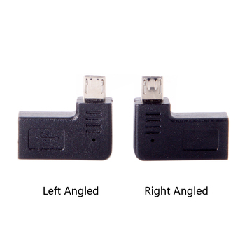 10pcs/lot CY Chenyang USB-C Type-C Female to Micro USB 2.0 5Pin Male Data Adapter 90 Degree Left & Right Angled Type