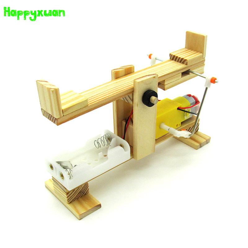 Us 909 30 Offhappyxuan Diy Electric Seesaw Model Kit Science Experiment Toys Fo Kids Boys Creative Cool Educational Learning Gift Wooden On