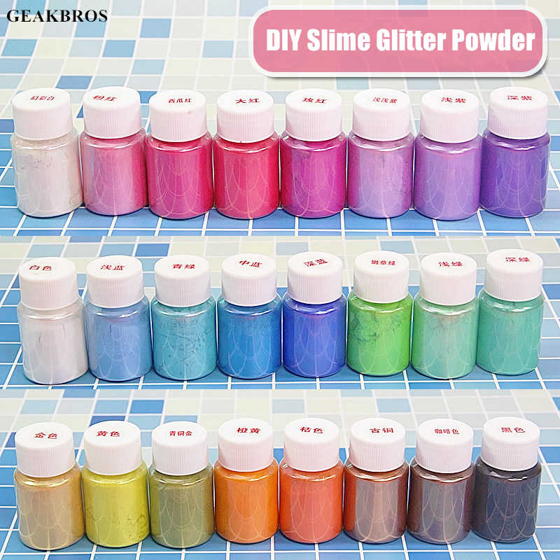 DIY Slime Mica Glitter Powder Filler Pigment Decor Toys Making for Parents Kid Paint, Nail Art, Powder Dye Fluffy Slime Supplies