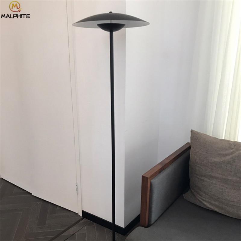 Modern Living Room LED Floor Lamp For Bedroom Standing Lamp Black Hats Luminaire Lamp Stand LED Indoor Decor Lighting Fstures in Floor Lamps from Lights Lighting