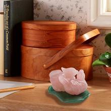 1 Pair Rose Quartz Feng Shui Mandarin Duck Green Aventurine with Stand