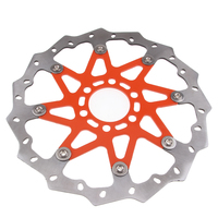 dolity Orange Aluminium Wave Break Disc Front For KTM 125 200 390 ABS 2013 16