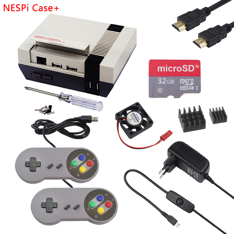 For Raspberry Pi 3 NESPi Case Plus Raspberry Pi Classic NES Plastic Box with Safe Shutdown