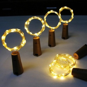 Image 3 - 10 20 30LED Wine Bottle Lights Cork Shaped Garland DIY Christmas String Lights For Party Halloween Wedding Decoracion