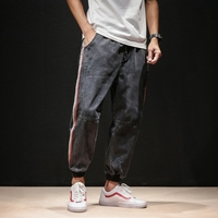 2019 Summer Wear The Wind Leisure Time Japanese Harun Pants Knitting Bring Jeans mens trousers men Hot Sale