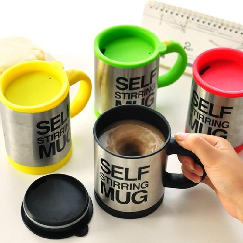 Модная креативная кружка кофейная чашка без ложки Автоматическое смешивание