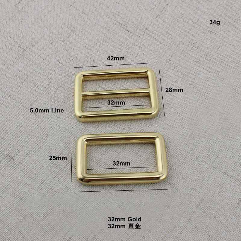 Высокое качество 32 мм сумки Сумки Длинные Плечо сплав слайдер Пряжка Tri-glide ремешок для аксессуаров Регулировка сварные квадратные пряжки