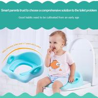 Baby Travel Potty Potties Seat Portable Plastic Toilet Seat Kids Add Soft Mat Multifunctional Environmentally Training Chair