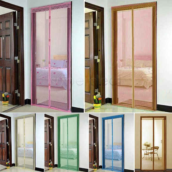Premium Hands-Free Magnetic Door Fly Screen Magic Anti Mosquito Bug Mesh Curtain