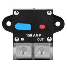 Circuit Breaker Automatic Reset Fuse Holder Inverter for Car Automotive 150A circuit breaker reset fuse holder 50amp 100amp circuit breaker reset fuse holder car boat fuse holders waterproof 12 24v new 60a