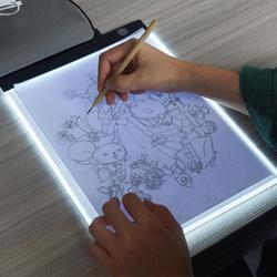 A4 tablety cyfrowe A4 LED graficzny artysta cienkie Art wzornik rysunek podświetlana tablica śledzenia tabeli Pad rysunek tablety graficzne