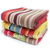fashion 100% cotton hand woven Stripe Tibetan bedroom carpet home mats table mats hand hooked rug carpet