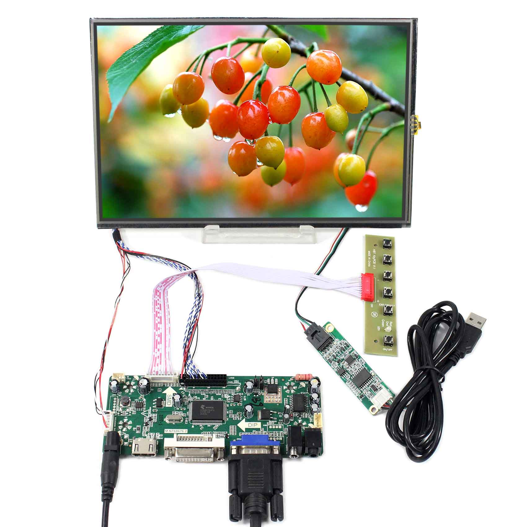 10.1inch M101NWWB 1280X800 LCD Screen With Resistive Touch VS101TP-A4 work with HDMI VGA DVI LCD Controller Board M.NT6867610.1inch M101NWWB 1280X800 LCD Screen With Resistive Touch VS101TP-A4 work with HDMI VGA DVI LCD Controller Board M.NT68676