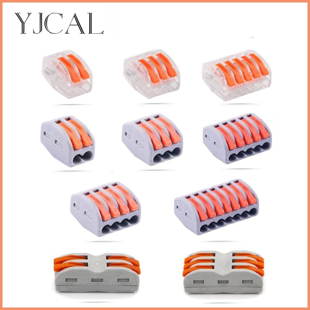 Wago Type Electrical Wiring Terminals Cage Spring Universal Fast Terminal Household Wire Connectors For Connection Of Wires LampWago Type Electrical Wiring Terminals Cage Spring Universal Fast Terminal Household Wire Connectors For Connection Of Wires Lamp