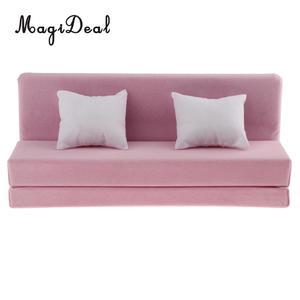 Image 5 - 1/6 длинный диван с подушками для 12 дюймов фигурки куклы кукольный домик Гостиная мебельный аксессуар Декор Игрушка