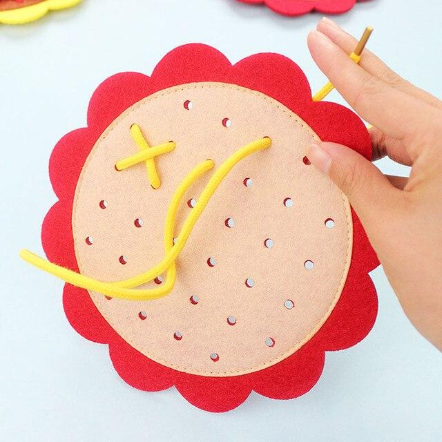 NUEVA ENSEÑANZA de Kindergarten Manual DIY tejido material Montessori bebé Aprendizaje Temprano educación juguetes de enseñanza del SIDA juguetes de matemáticas