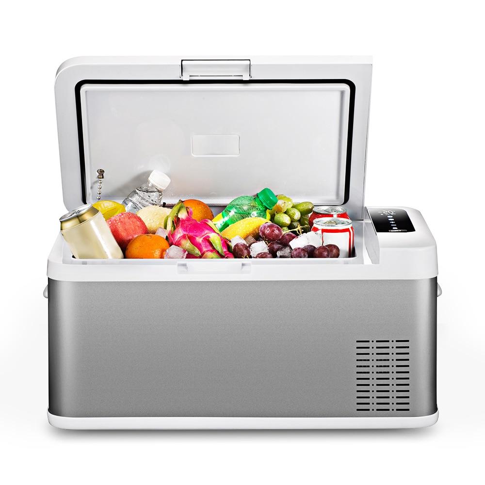 BK-18 réfrigérateur de voiture 18L AC/DC Portable Grande Capacité écran tactile Contrôle Facile pour Le Déménagement de Pique-Nique Camping Partie