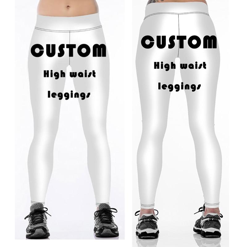 Women Men   Leggings   Custom Design Logo 3D Print Running   Legging   High Elasticity Trousers Drop Shipping