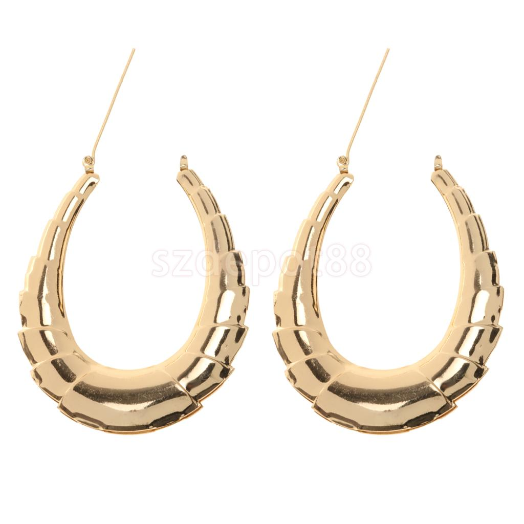 9641f566e 1 Pair Large Gold Hoop Earrings Classic Old School Bamboo Earrings For Women-in  Hoop Earrings from Jewelry & Accessories on Aliexpress.com | Alibaba Group