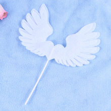 1 Pc Angel Wing Cake Topper Decoration With LED Light For Anniversary Birthday Party & Wedding(White)(China)