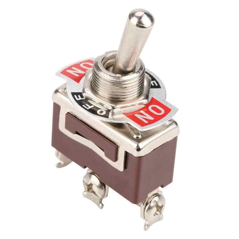 5 шт. вкл.-ВЫКЛ.-ВКЛ. 3 позиции тумблер 3 булавки 12 мм 15A 250VAC мощность переключатель высокое качество