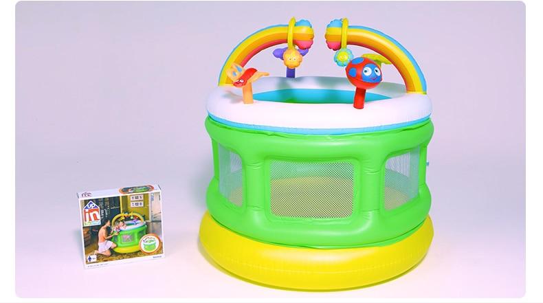 Trampoline gonflable de Protection de l'environnement pour la maison d'intérieur d'enfants lit gonflable pliable Mini piscine de boule d'océan de barrière