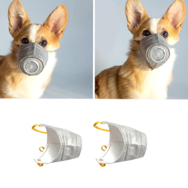 Dog Mask Pet Dog Anti-fog Mask Protective Mouth Cover Anti Dust Gas Pollution Outdoor Travel Supplies Dog Products