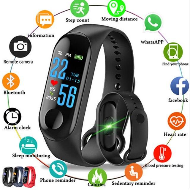 M3 Smart Watch 39 s Color Screen Fitness Tracker  M2 Smart Bracelet Heart Rate Blood Pressure Monitor Sport Watch for Men Women