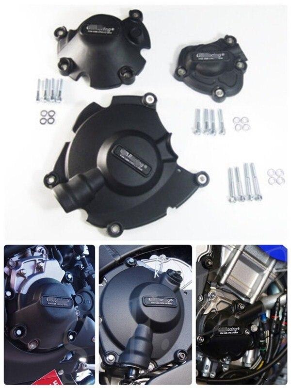 Housse de protection pour moteur moto GB Racing pour Yamaha MT-10 MT10 2015-2016-2017-2018-2019 noir