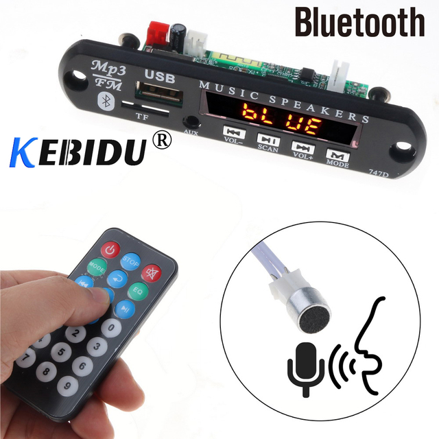 Kebidu 5 12V Bluetooth MP3 Player Decoder Board Bluetooth Handfree MP3 WMA Decoder Board Audio Music Module USB TF Radio For Car
