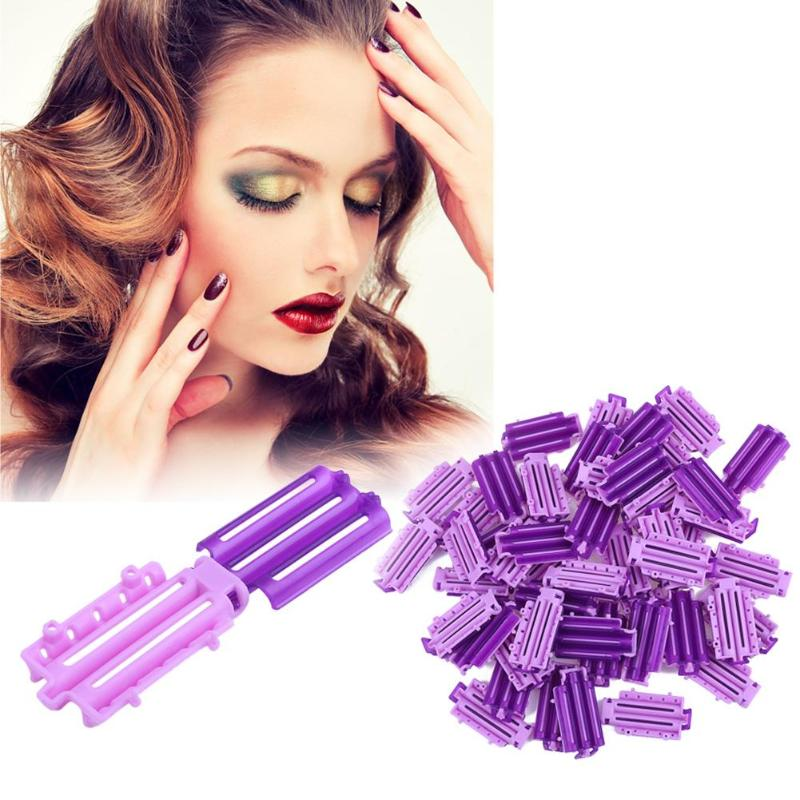 45pcs/Bag Fluffy Hair Roots Perm Hair Styling Tools Invisible Rooting Bar Corn Bar Clip Curler Fluffy Clamps Rollers Hair Tool