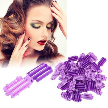 45pcs/Bag Fluffy Hair Roots Perm Hair Styling Tools Invisible Rooting Bar Corn Bar Clip Curler Fluffy Clamps Rollers Hair Tool image
