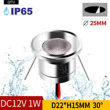 hot deal buy qitu ip65 waterproof 12v led spotlights embedded bathroom ceiling window shower room focus light bathroom mini downlight