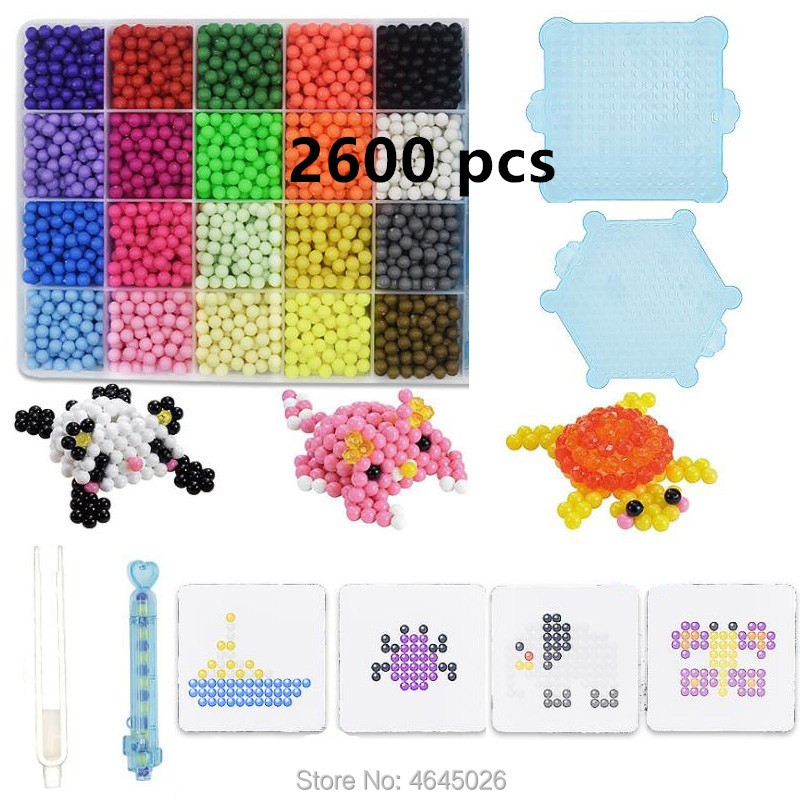 Magic Beads Water Fuse Beads DIY Set Pen Tweezer Pegboard Tool Kit Accessories Kids Toys For Children Girls Gift 8 10 Years