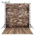 NeoBack Vinyl Vintage Dunkelbraun Ziegel Wand Holz Neugeborenen Fotografie Hintergrund Kinder Kinder Photophone Studio Foto Hintergrund