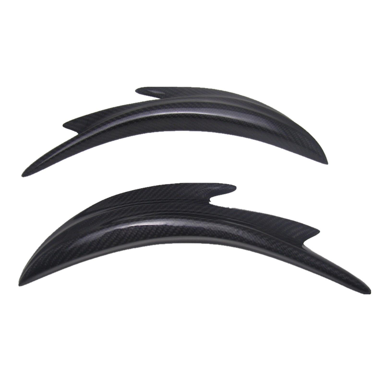 1 paire fibre de carbone voiture pare-chocs avant Spoiler requin ailerons Canards séparateur
