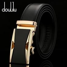 Высокое качество, модные ремни из натуральной кожи для мужчин, автоматическая пряжка, дизайнерские мужские джинсы, роскошный бренд, винтажный черный ремень