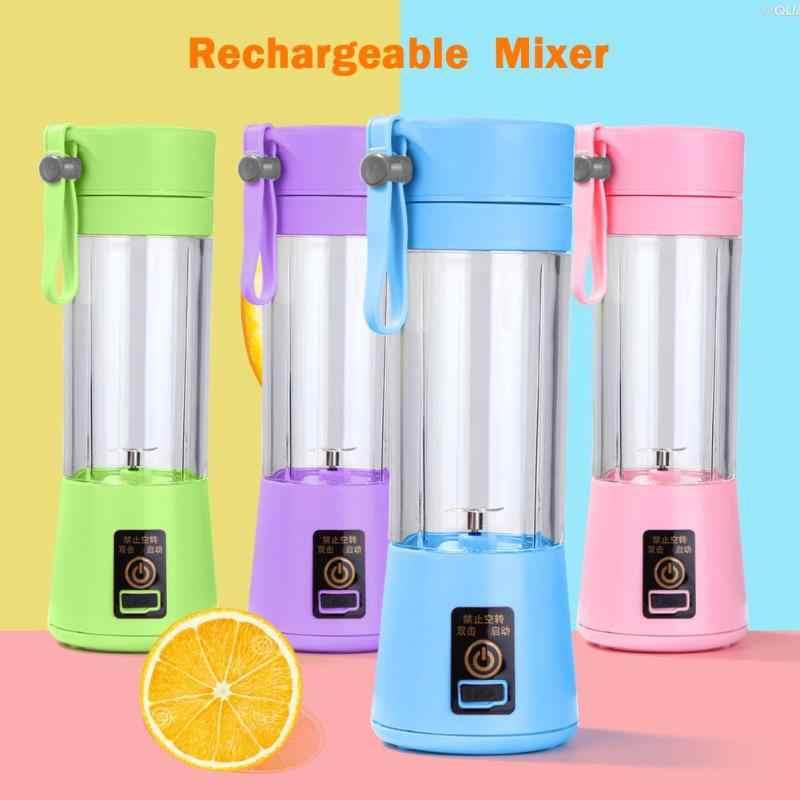 Máquina recarregável portátil do suco do misturador do liquidificador do usb do mini juicer 380ml