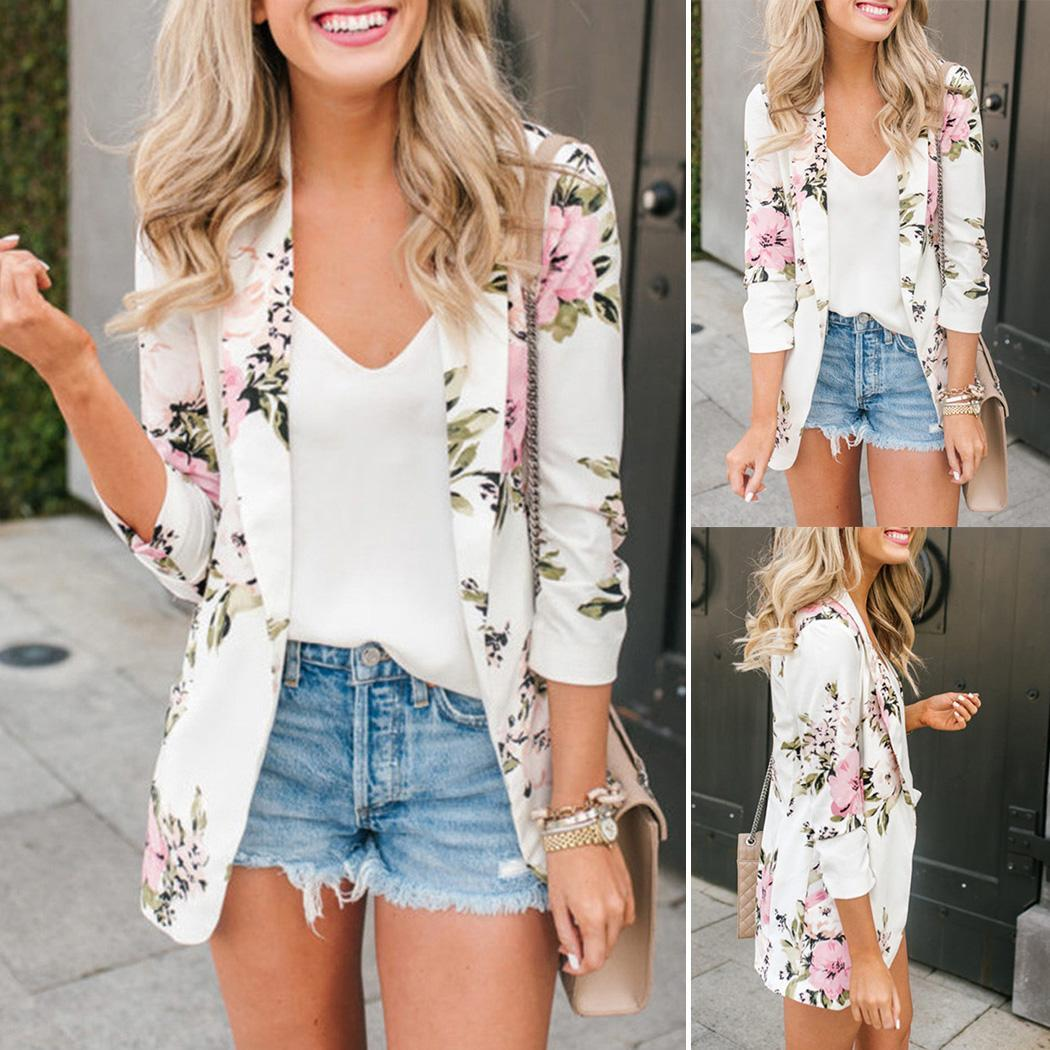 new-fashion-women-casual-v-neck-long-regular-fit-sleeve-white-floral-hip-length-none-blazer
