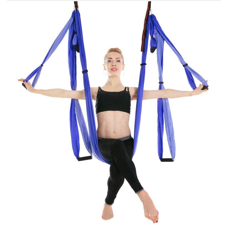 Hamac Anti-gravité Yoga 6 poignées Aeria Yoga haute résistance décompression hamac Yoga Inversion exercices ceinture
