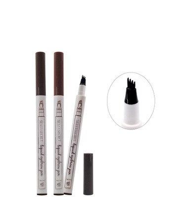 Waterproof Microblading Pen Paint For Eyebrow Tattoo Pen 4 Heads Liquid Eye Brow Makeup Ink Pencil Beauty Cosmetic Long Lasting 3