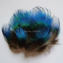 Atacado 200 pcs qualidade natural penas de Pavão azul 3-6 cm para artesanato diy jóias acessórios decorações plumas