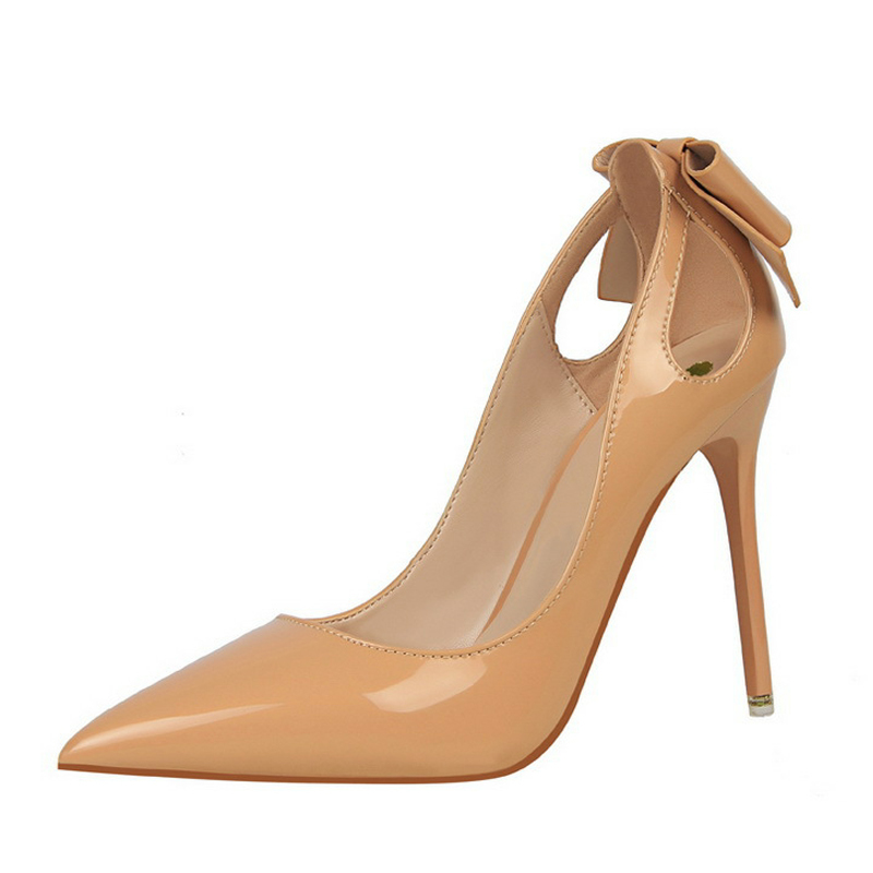 2019 туфли тонкие туфли женские туфли на высоком каблуке белые женские туфли лодочки на Высоком Каблуке 34 - 5